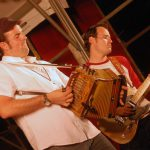 Wilson Savoy and Jon Bertrand of the Cajun band The Pine Leaf Boys