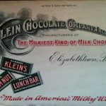 The official letterhead used by the Klein Chocolate Company