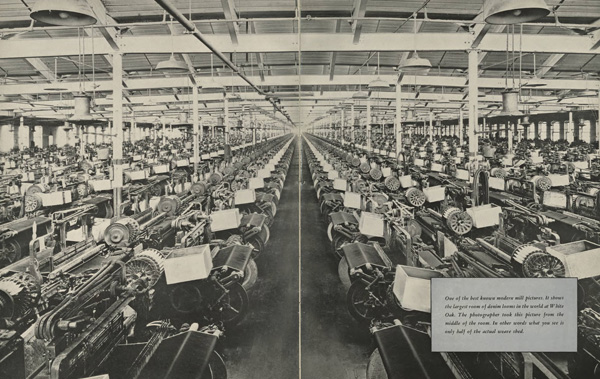 """Panoramic View of the """"Weave Shed"""" at White Oak Mills, ca. 1941"""