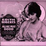 Preview Slide of Laemmle Film, Alias Miss Dodd, 1920