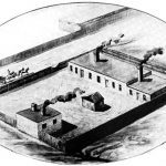 Illustration of the Mallinckrodt Chemical Works, 1868