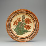 Slip decorated earthenware dish made in Salem, North Carolina, ca. 1780