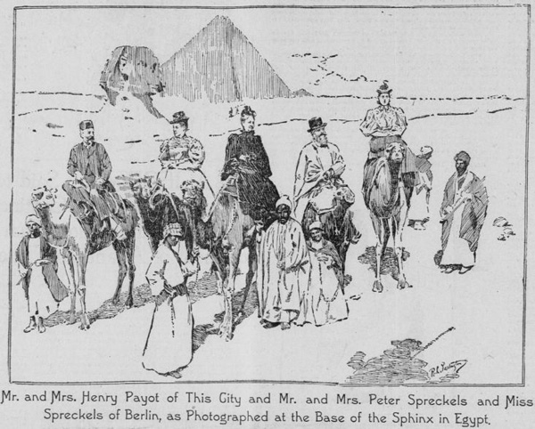 Peter Spreckels and family in Egypt, 1896