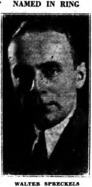 Photograph of Walter P. Spreckels published shortly after he was accused in 1931 of participating in a scheme to violate Prohibition laws