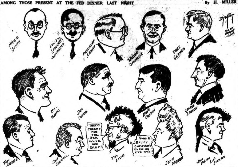 Caricatures of Federal Sugar employees, 1922
