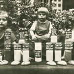 German children and their Quaker food rations, 1920