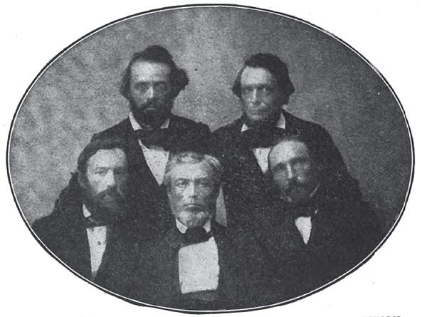Members of the Humboldt Institut, ca. 1859-1860
