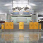 Lufthansa gate, Frankfurt Airport, 1994