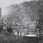 Early oilfield exploration in Pennsylvania, ca. 1862