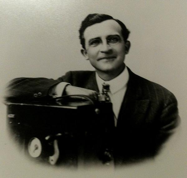 Portrait of Herman DeVry in later life
