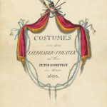 Vincent Nolte's cover drawing for his costume collection for Peter Godeffroy's Liebhaber Theater