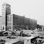 View of the Merchandise Building during Construction, ca. 1905