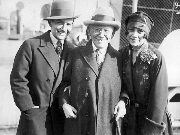 Carl Laemmle with his son and daughter