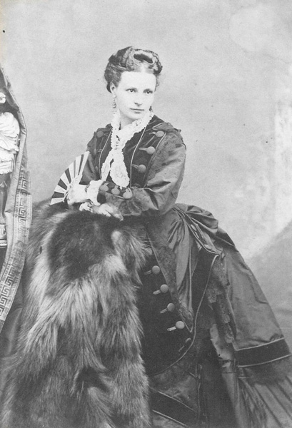 Photograph of Josephine (née Runne) Dohrmann, the wife of F.W. Dorhmann, in 1866