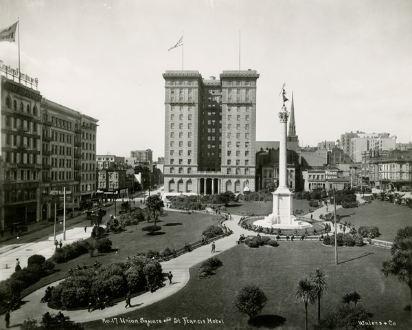 Union Square and St. Francis Hotel, San Francisco, California, ca. 1904-1906