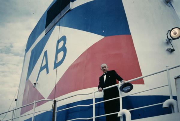 "Arnold Bernstein on the ""Atlantic,"" ca. 1957-1959"