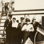 Arnold and Lilli Bernstein on board of one of his ships, ca. 1921-1930