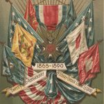 Souvenir card for the twenty-fifth anniversary banquet of the Military Order of the Loyal Legion, 1890