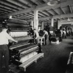 Curt Teich & Company's factory floor showing the offset presses, 1929