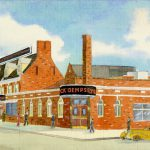 Curt Teich & Company, Inc., Artist rendering of Jack Dempsey's Restaurant, 1936