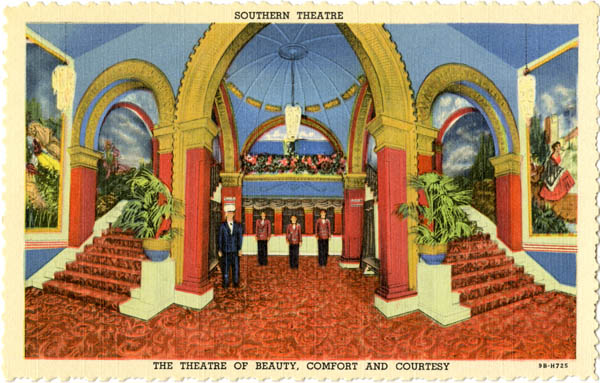 Curt Teich & Company, Inc., Southern Theatre: The Theatre of Beauty, Comfort, and Courtesy, 1949