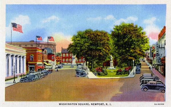 Curt Teich & Company, Inc., Washington Square, Newport, Rhode Island, 1935