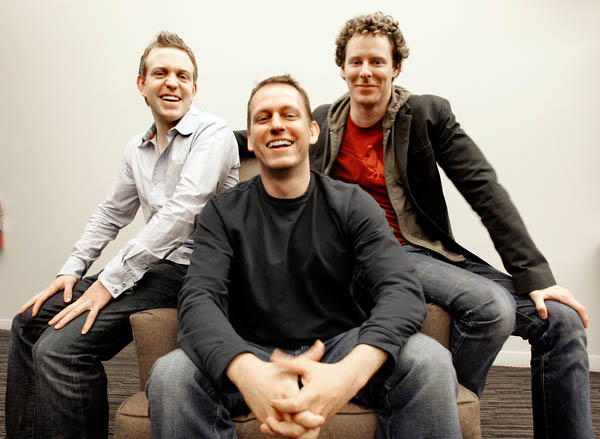 Three of the managing partners of the Founders Fund: Ken Howery, Peter Thiel, and Sean Parker, 2006