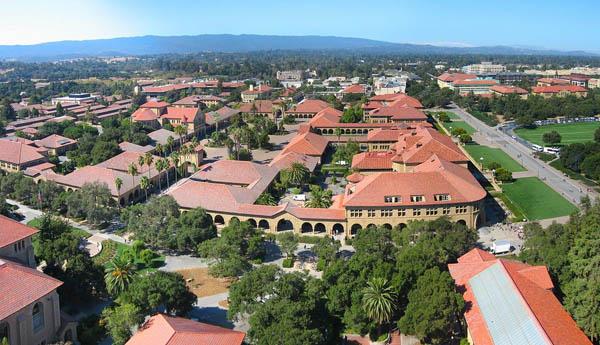 Stanford University campus aerial view, 2005