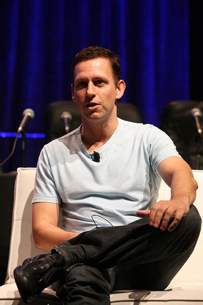 German-American entrepreneur Peter Thiel at the 2008 TechCrunch50 Conference in San Francisco