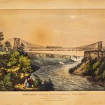 Roebling Railroad Suspension Bridge over the Niagara River