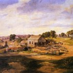 C.H. Guenther's first mill painted by Karl Friedrich Hermann Lungkwitz, 1855
