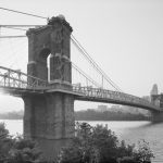 Covington and Cincinnati Bridge, View toward Northwest and Cincinnati