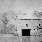 Carl Guenther's Upper Mill which ground mainly corn, rye, and barley, a quarter-mile up river from his original mill