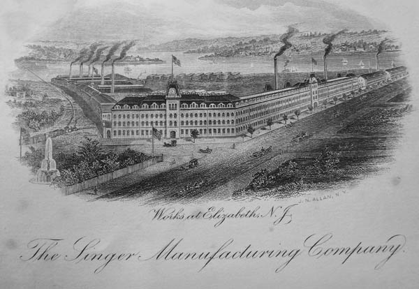 Singer factory, Elizabethport, New Jersey, ca. 1880