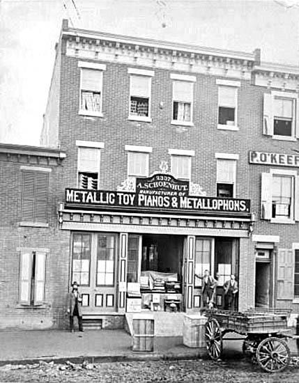 Storefront of A. Schoenhut, 1875