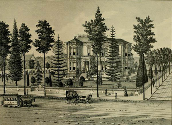 Los Angeles Home of Isaias and Esther Hellman, ca. 1880