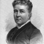 Engraving of Anna Ottendorfer from the published draft of Carl Schurz's 1884 funeral oration
