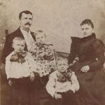 August and Louisa Fruehauf with their three oldest children, Andrew, Harvey, and Henry, ca. 1896