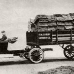 The first semi-trailer produced by the Fruehaufs