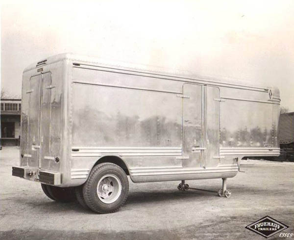 Example of an early refrigerated trailer