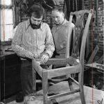 Theodore J. Potthast, Sr., with Cabinetmaker John Hirt, 1970s