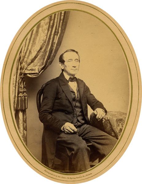Portrait of Christian Frederick Martin Sr. in the studio of Philip Zorn, Philadelphia, n.d.
