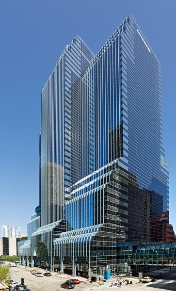 The Citigroup Center in Chicago, built between 1984-87 by Murphy/Jahn