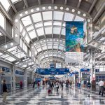 The United Airlines terminal at Chicago O'Hare Airport.