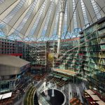 Sony Center Forum in Berlin with an array of restaurants and movie theaters