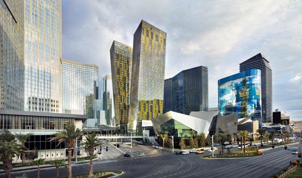 Veer Towers in Las Vegas, completed in 2010 under the design leadership of Francisco Gonzalez-Pulido