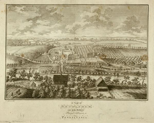 Bethlehem, one of the Brethren's Principal Settlements, in Pennsylvania, 1757