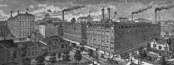 Phillip Best Brewery (the Pabst Brewery beginning in 1889) in the mid-1880s