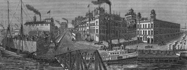 South Side Brewery (formerly the Charles T. Melms Brewery) acquired by the Phillip Best Brewery, mid-1880s