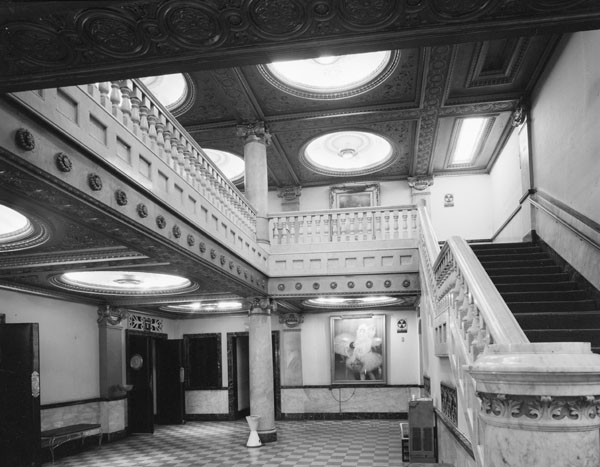 Lobby of the Pabst Theater constructed in 1895 at 144 East Wells Street in Milwaukee, Wisconsin